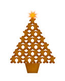 Gingerbread Men Christmas Tree Royalty Free Stock Image