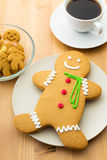 Gingerbread men and coffee Stock Photo