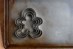 Gingerbread Men Cookie Cutters Royalty Free Stock Images