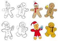 Gingerbread men cookies Stock Images