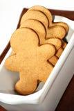 Gingerbread men cookies royalty free stock photo