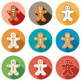 Vector gingerbread men Royalty Free Stock Photography
