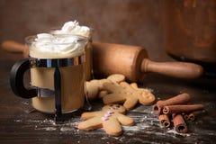 Gingerbread men homemade Stock Photo