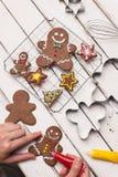 Gingerbread men Royalty Free Stock Photo