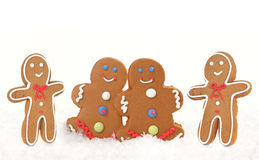 Gingerbread Men and Women Royalty Free Stock Images