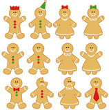 Gingerbread Men and Women. Cute set of Gingerbread Men and Women created using  software - Adobe Illustrator Royalty Free Stock Photography