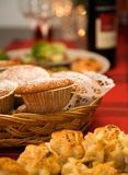 Gingerbread muffins Stock Images