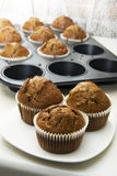 Gingerbread muffins in cups Royalty Free Stock Photo