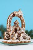 Gingerbread nativity scene Stock Image