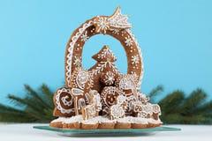 Gingerbread nativity scene Royalty Free Stock Photography