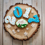 Gingerbread New Year 2017 stock images