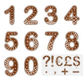 Gingerbread numbers christmas decoration Stock Images