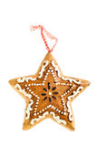 Gingerbread ornament star Royalty Free Stock Photo