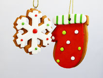 Gingerbread ornaments Stock Photos