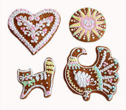 Gingerbread painted royalty free stock images