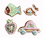 Gingerbread painted 1 Royalty Free Stock Photos