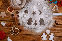 Gingerbread pair in love Royalty Free Stock Photo