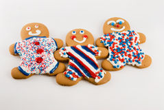 Gingerbread Patriotic Theme Stock Images