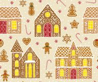 Gingerbread Pattern Royalty Free Stock Photos