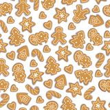 Gingerbread pattern Royalty Free Stock Photo
