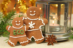Gingerbread people Stock Photos