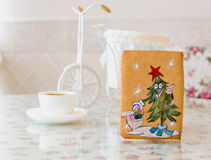 Gingerbread pine new year Stock Photos
