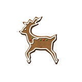 Gingerbread Reindeer Christmas Cookie Royalty Free Stock Images