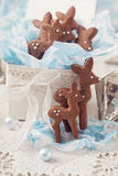 Gingerbread reindeer cookies Royalty Free Stock Images