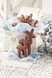 Gingerbread reindeer cookies Stock Photography