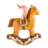 Gingerbread rocking horse Stock Images