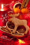 Gingerbread Rudolph Stock Photos