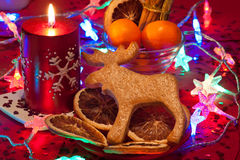 Gingerbread Rudolph decoration Royalty Free Stock Photo