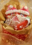 Gingerbread Santa Claus for Christmas Royalty Free Stock Photography