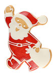 Gingerbread Santa Claus. Isolated on white background Stock Image