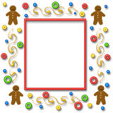 Gingerbread scrapbook page Stock Images