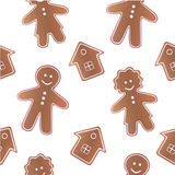Gingerbread seamless pattern Royalty Free Stock Photography