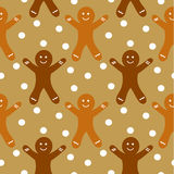 Gingerbread seamless pattern Royalty Free Stock Images