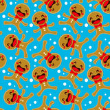 Gingerbread Seamless Pattern Royalty Free Stock Photos