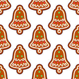Gingerbread seamless pattern Stock Photography