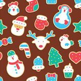 Gingerbread seamless pattern Royalty Free Stock Photo
