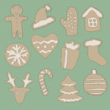 Gingerbread set Stock Photo