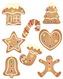 Gingerbread set Stock Images