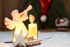 Gingerbread in shape of angel Stock Photography