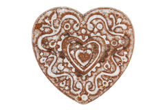 Gingerbread in the shape of a heart Stock Photography