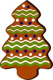 Gingerbread in shape of x-mas tree Stock Images
