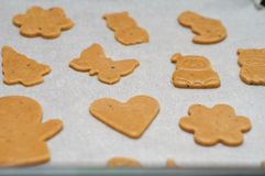 Gingerbread shapes Stock Image