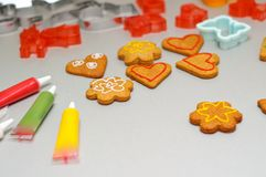 Gingerbread shapes Royalty Free Stock Images