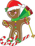 Gingerbread Skier Stock Photography
