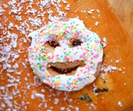 Gingerbread smiley, christmas Royalty Free Stock Photo