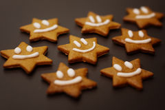 Gingerbread smilie Stock Photography